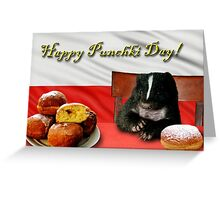 Punchki Day Skunk Greeting Card