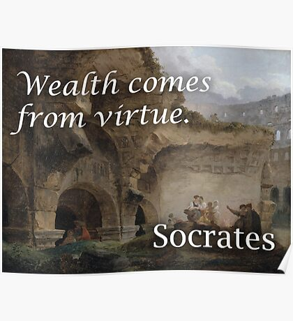 Socrates Virtue Philosophical Quote Poster