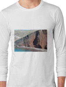 30 September 2016 The Red Beach on the Greek Island of Santorini Long Sleeve T-Shirt