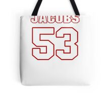NFL Player Ben Jacobs fiftythree 53 Tote Bag