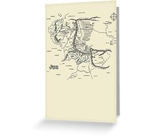 Map of Middle Earth, Lord of the Rings, Tolkien Greeting Card