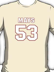 NFL Player Joe Mays fiftythree 53 T-Shirt