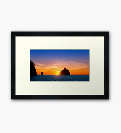 Sunset at First Beach - La Push .3 Framed Print