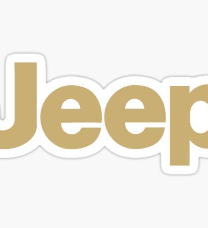 Jeep - blackgold Sticker