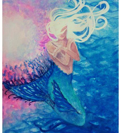 Dreama, Ethereal Mermaid of the Deep (mermaid, fantasy, ocean) Sticker