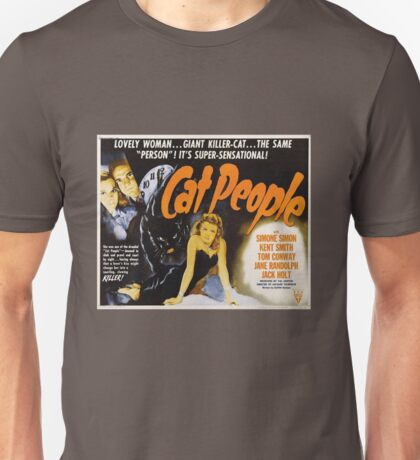 Cat People (1942) - Vintage Movie Poster Unisex T-Shirt