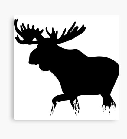 Moose walking on glass- moose t shirt Canvas Print