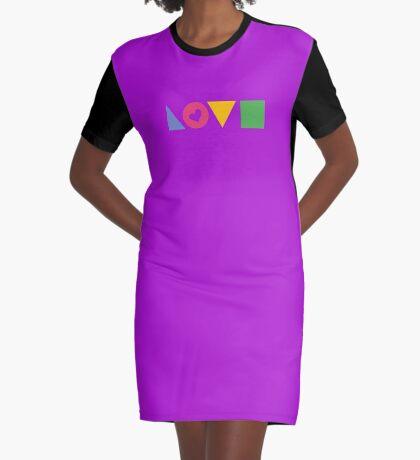 Love Blocks Graphic T-Shirt Dress