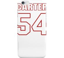 NFL Player Bruce Carter fiftyfour 54 iPhone Case/Skin