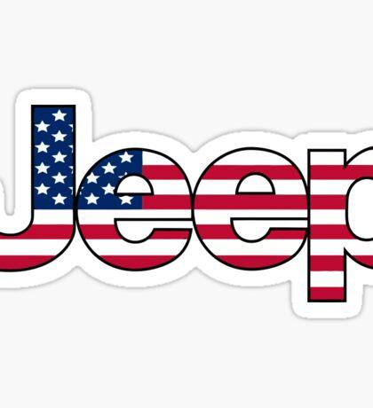 Jeep - USA flag Sticker