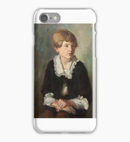 Emil Rudolf Weiss, Portrait of a Seated Child, child, iPhone Case/Skin