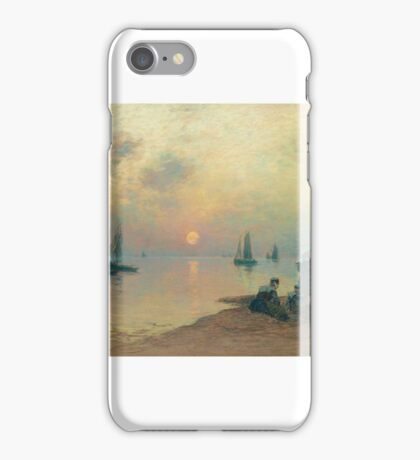 Fernand Legout-Gérard, Breton Coastal Landscape at Sunset iPhone Case/Skin