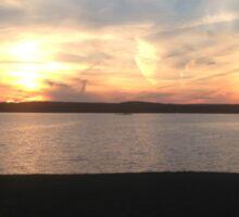 Wachusett Reservoir at Sunset Sticker