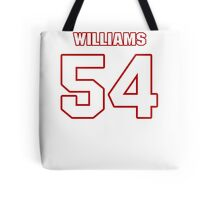 NFL Player Jason Williams fiftyfour 54 Tote Bag