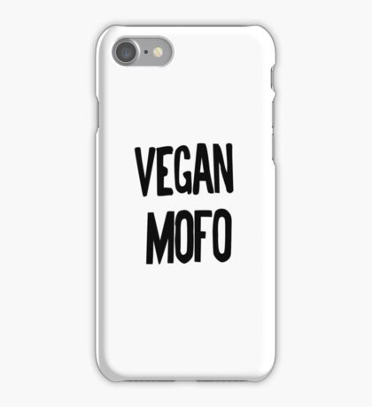 Vegan Mofo Vegan Month Of Food iPhone Case/Skin