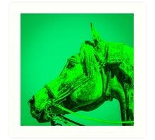 The Dark Green Horse Art Print