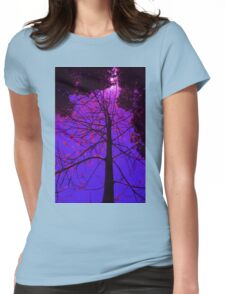 The Flame Tree Blossoms Womens Fitted T-Shirt