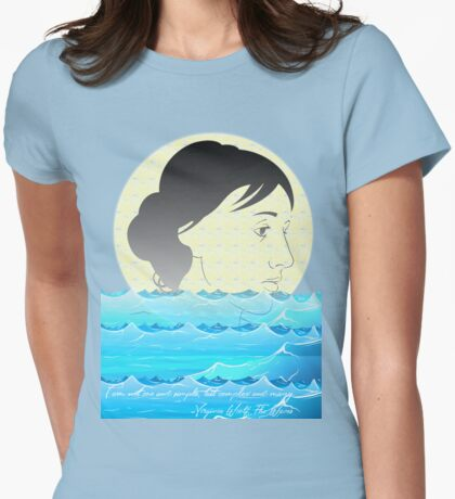 I am not one and simple, but complex and many. -Virginia Woolf, The Waves  Womens Fitted T-Shirt