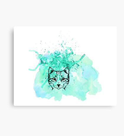Kitty I'm Blue Canvas Print