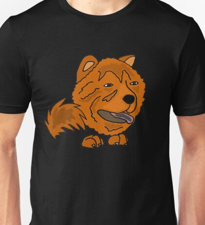 Funny Cool Red Chow Chow Dog Unisex T-Shirt