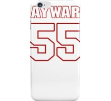 NFL Player Adam Hayward fiftyfive 55 iPhone Case/Skin
