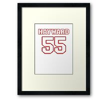 NFL Player Adam Hayward fiftyfive 55 Framed Print