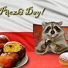Paczki Day Raccoon by jkartlife