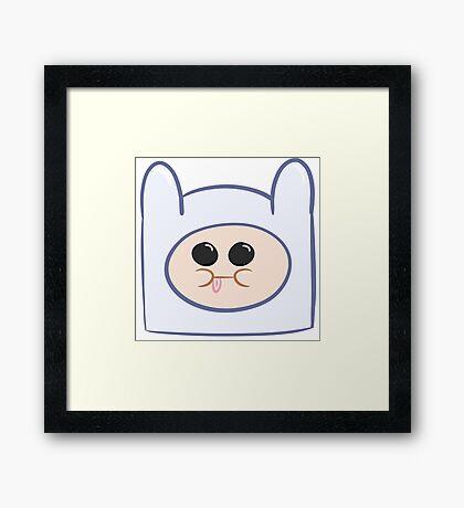Cute Baby Finn Face (Adventure Time) - Pesty Framed Print