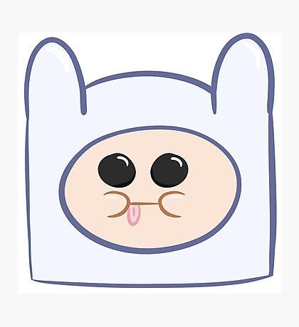 Cute Baby Finn Face (Adventure Time) - Pesty Photographic Print