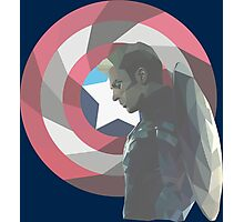 Geo Captain America Photographic Print