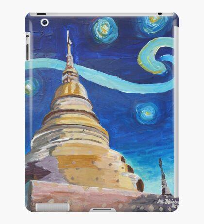 Starry Night in Thailand - Van Gogh Inspirations in Thai Temple  iPad Case/Skin