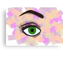 Pink and Orange Eye Canvas Print