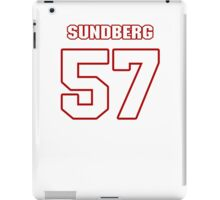 NFL Player Nick Sundberg fiftyseven 57 iPad Case/Skin