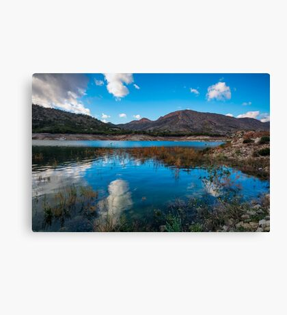 Cloud reflections in Amadorio  Canvas Print