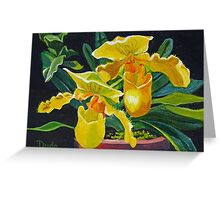 Yellow Slippers Greeting Card
