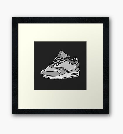 SNEAKERS ADDCT Framed Print