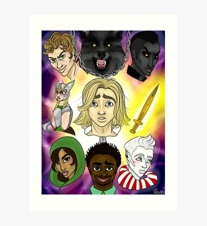 Magnus Chase and Friends! Art Print