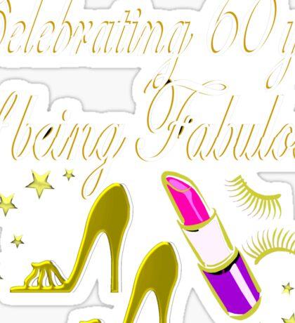 GORGEOUS GOLD 60TH BIRTHDAY FASHION QUEEN DESIGN Sticker