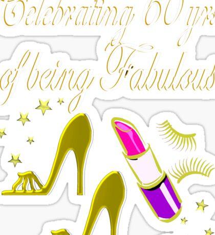GORGEOUS GOLD 60TH BIRTHDAY FASHION QUEEN Sticker