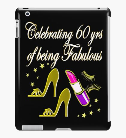 GORGEOUS GOLD 60TH BIRTHDAY FASHION QUEEN iPad Case/Skin