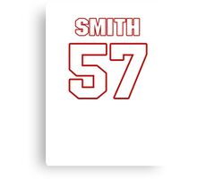 NFL Player Keith Smith fiftyseven 57 Canvas Print