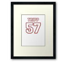 NFL Player Jordie Tripp fiftyseven 57 Framed Print