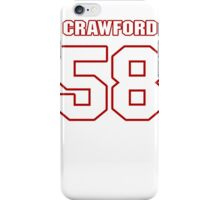 NFL Player Jack Crawford fiftyeight 58 iPhone Case/Skin