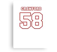 NFL Player Jack Crawford fiftyeight 58 Canvas Print