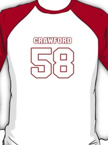 NFL Player Jack Crawford fiftyeight 58 T-Shirt