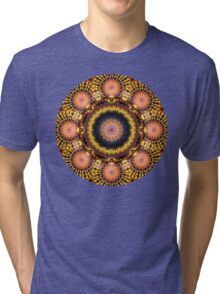 Gold Star Burst Mandala Tri-blend T-Shirt