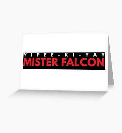 Mister Falcon Greeting Card