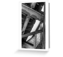 Underneath- a view from under a CSR Railroad Girder Bridge Greeting Card
