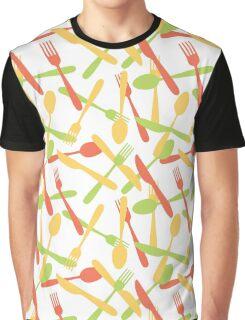 Cutlery silverware pattern Graphic T-Shirt