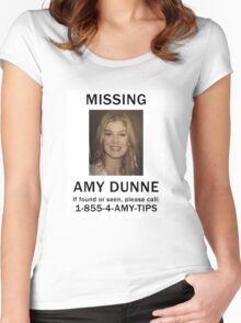 Amy Dunne Missing Poster Women's Fitted Scoop T-Shirt